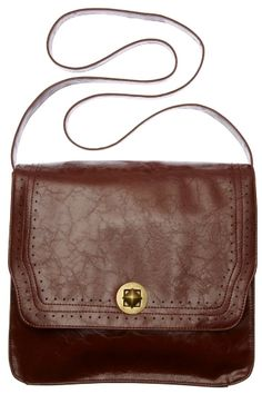 Brown leather bags = perfect for fall.