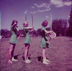 Fran, Ruth, + Jo-Ann at archery