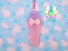Creepy Cute Pastel Coffin Necklace  Pink