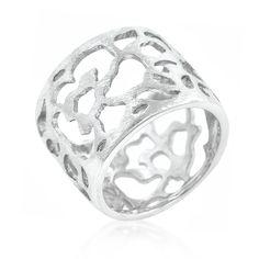 Filigree Matte Rhodium Ring, $24.00