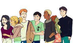 Young Justice Team Fanart: Zatanna, Artemis, Wally, Dick, Kaldur, M'gann, Conner