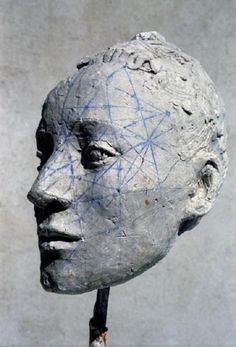 By French sculptor Germaine Richier La Regodias. Art Timeline, Ara, Sculpture Head, French Sculptor, Ceramic Figures, Inspiration Art, Contemporary Sculpture, Face Art, Amazing Art