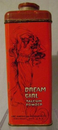 Vintage Dream Girl Talcum Powder Tin