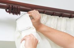This is a guide about hanging curtains. Hanging new curtains is a wonderful way to quickly change the look of a room. Getting the curtains hung correctly is the the key to making them look great.