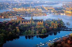 View of Djurgården, Stockholm.