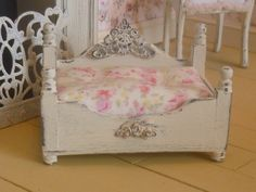 Shabby Chic Princess Style Dog/Pet Bed for Dollhouse via Etsy
