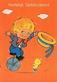 Vintage Ansichtskarte 70 großen blauen Augen von CuteEyeCatchers