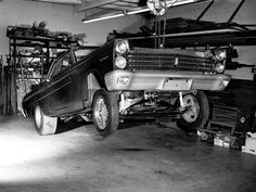 Drag car in the shop