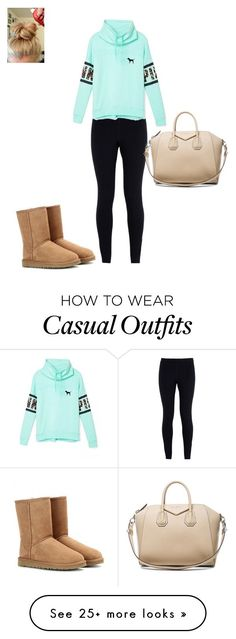 """""""Casual winter day out"""" by hammiegrl on Polyvore featuring NIKE, UGG Australia, Victoria's Secret, Givenchy, women's clothing, women, female, woman, misses and juniors"""