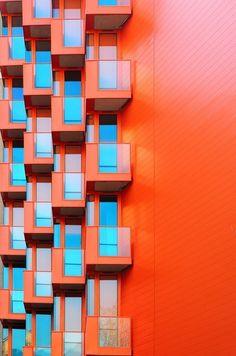 orange modern architecture