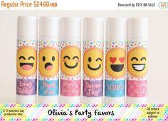 SALE Emoji Lip Balm - 12 Lip Balm - Emoji Birthday Party - Emoticon Party Favor - Emoji Lip Balm Favors - Custom Emoji Favors - Teen Birthda by OliviasPartyFavors on Etsy https://www.etsy.com/listing/475905490/sale-emoji-lip-balm-12-lip-balm-emoji