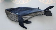 DIY: make a whale with your old jeans DIY: make a … - Stofftiere Sewing Patterns For Kids, Sewing For Kids, Baby Sewing, Jean Crafts, Denim Crafts, Handmade Baby, Handmade Crafts, Sewing Hacks, Sewing Projects