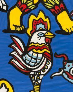 """Manoel Quitério - Arte Urbana no Carnaval do Recife - Terminal do Porto do Recife. Com agenciamento da Nuvem e com o """"maestro"""" Carlos Augusto Lira (arquiteto que assina o decor do Carnaval) os painéis produzidos irão dar vida as ruas e também são a base visual para o projeto cenográfico. A arte da rua do povo para o povo. Viva a Arte! Viva o Carnaval! Foto: Fred Jordão #carnaval2017 #SIMCarnavaldoRecife #carnaval #grafite"""