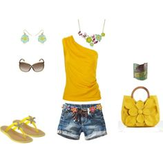 I love bright yellow!! The starfish shoes are really cute too!!