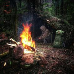 Warm up while taking some rest in my small shelter for the night. Double tap the image to show the love. #bushcrafter #natureaddict #bushcrafting #primitiveliving #bushcrafter Visit Survival Life TODAY for more bushcrafting facts and survival news. Click the #linkinbio Repost from @outdoorsurvivalgear Photot by @witiko