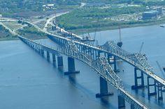 The Grace and Pearman Bridges (old Cooper River Bridges), gone but not forgotten. Charleston, SC