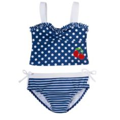 Penny M Cherry 2-pc. Tankini Swimsuit Set - Toddler Girl
