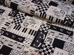 48 Best Music Themed Fabrics Images Music Music Lyrics Music Notes