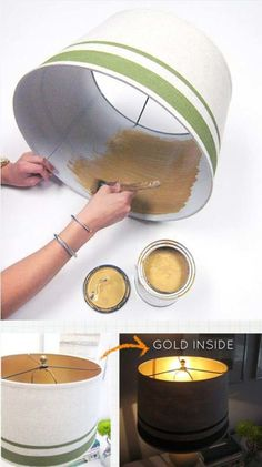 If you want to give a low-budget makeover to any part of your home, then we suggested you should try spray painting which has become a new trend in home-remodeling. Spray painting is an easy, cheap and fast way to make those existing home items go from pl Origami Lamps, Lamp Makeover, Lamp Redo, Diy Inspiration, Ideias Diy, Spray Painting, Painting Lamp Shades, Painting Hacks, Home Projects