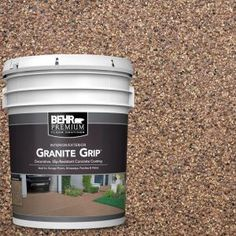 Galaxy Quartz Decorative Flat Interior/Exterior Concrete Floor - The Home Depot Bring a stunning and new look to your floor with this durable BEHR Premium Galaxy Quartz Decorative Concrete Floor Coating. Concrete Porch, Concrete Bricks, Concrete Floors, Concrete Patios, Flat Interior, Interior Exterior, Exterior Paint, Gray Exterior, Interior Design