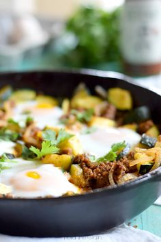 11. 15-Minute Zucchini Beef Skillet #paleo #dinner #recipes http://greatist.com/eat/paleo-recipes-easy-and-delicious-dinners