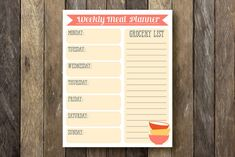Grocery List/Meal Planner | 13 Ingenious Planners That Will Help You Get Your Life Together