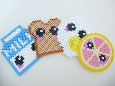 Made with hama beads, these cute coasters will be the perfect finishing touch to your home décor!  Size: Approximately 8 cm in diameter. (3.1)  Love this? Check out the rest of my shop for more bead creations at http://soggybits.etsy.com  1) Because this is all handmade, there can be slight differences between the pictures and the product you get. However, we take great care in making sure they are as alike as possible, so at the very most, the differences should be absolutely minimal. We…