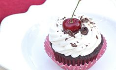 grain free black forest cupcakes