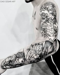 Search inspiration for a Blackwork tattoo. Tattoo Geek, Z Tattoo, Calf Tattoo, Avatar Tattoo, Naruto Tattoo, Anime Tattoos, Cute Tattoos, Body Art Tattoos, Sleeve Tattoos