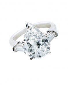 Pear-shaped diamond from Harry Winston