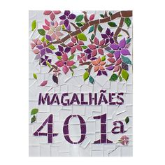Numero feito em mosaico para residencia, apartamento, chacara, fazenda, sitio, fabricas... Tamanho A4 29x21, podendo ser feito em qualquer dimensão, tamanho ou formato diferentes. Encaminhe sua idéia que entraremos em contato o mais breve possivel.