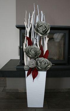 Dekorace s šedohnědými růžemi / Zboží prodejce jircice | Fler.cz