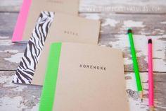Caderninho estilizado para a volta às aulas - VilaMulher