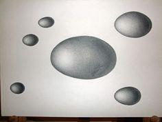 Huevos, dibujo lapiz negro