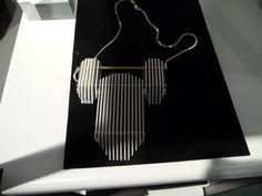 Acrylic jewelry by Sarah Angold - fabulous! Like sculptures....