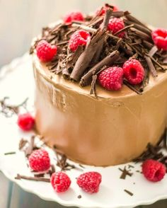 X mas cake with raspberries and .......