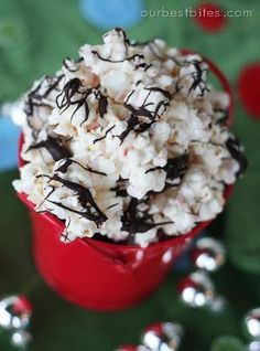 Peppermint Bark Popcorn Recipe< Delicious Holiday Traet, Pin From Our Best Bites