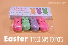 Easter Treat Bag Topper with Marshmallow Peeps