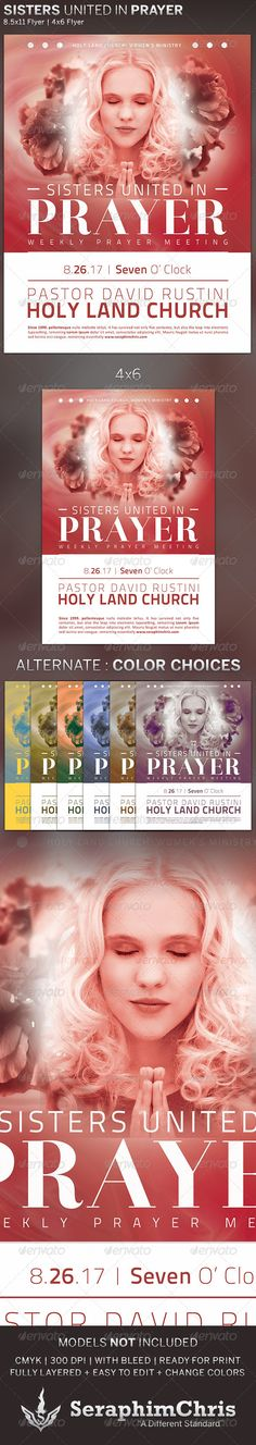 Sisters United in Prayer: Church Flyer Template Psd Templates, Flyer Template, Wisdom Script, Pastor David, Font Names, Prayers, Sisters, The Unit, Christian