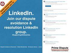 Join our @LinkedIn group page - Keeping you connected with Dispute Avoidance & Resolution https://www.linkedin.com/groups/8300298   #PrimeDispute #Arbitration #Mediation #ENE #Adjudication #DBs #disputes #disputeboards #expertwitness #emergencyarbitration #independentexpert #OnlineDisputeResolution #ADR #EarlyNeutralEvaluation #DRM #Industry #GlobalMembership #LeadingChange #CREATIVE #LinkedIn