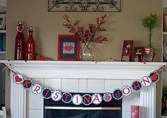 Red & Black Bridal Shower Banner