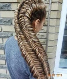 Amazing. I wonder how it would look in my hair? My hair is 4 feet long. It would take a long time.