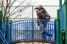 South Philadelphia engagement session at a local playground. Pennsylvania Wedding Photographer | Ashley Gerrity Photography