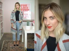 Wednesday: Cupcakes and Cashmere Top and Coat, Vintage Levis, Zara Pumps, Topshop 'Rio Rio' Lipstick