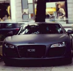 Audi R8, Black Matte. Do I have to say more?!