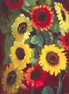 Emil Nolde ~ Sunflowers, 1917