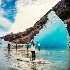 paddling in patagonia Oh The Places You'll Go, Places To Travel, Travel Destinations, Places To Visit, Beach Volleyball, Mountain Biking, Sup Stand Up Paddle, Sup Yoga, In Patagonia