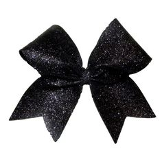 Black Glitter Sparkle Cheer Bow ($13) ❤ liked on Polyvore featuring accessories… Sparkly Cheer Bows, Cute Cheer Bows, Cheer Up, Cheer Stuff, Black Sparkle, Black Glitter, Black Hair Bows, Bow Accessories, Glitter Hair