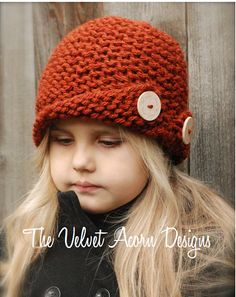 Rockford Cloche'  KNITTING PATTERN Toddler Child Adult