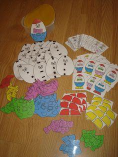Les Mathoeufs, une chouette façon de faire des Maths!! ~ La petite vie d'Ilhan et Mélia (ou la vie sans école) Learning Activities, Kids Learning, Activities For Kids, Kindergarten Language Arts, Montessori Math, Petite Section, Folder Games, Children With Autism, Home Schooling